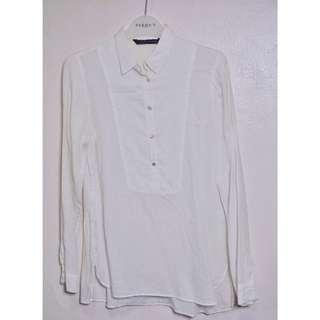 Zara Long White Shirt