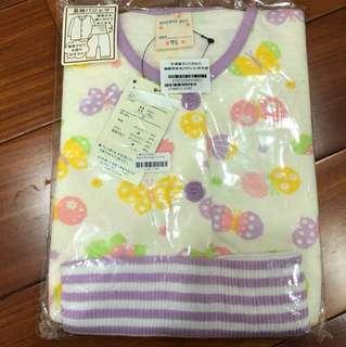 🚚 特賣 日牌 肚圍睡衣紫色蝴蝶95cm