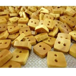 WB11178 - 8mm mini square wooden buttons (10 pieces)  #craft
