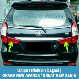Lampu reflektor bagasi grand new avanza / great new xenia