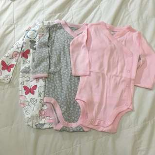 Carter's side snap onesies (6months)