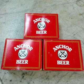 6 Anchor Beer Glasses Vintage