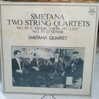 SMETANA TWO STRING QUARTETS FROM MY LIFE VG