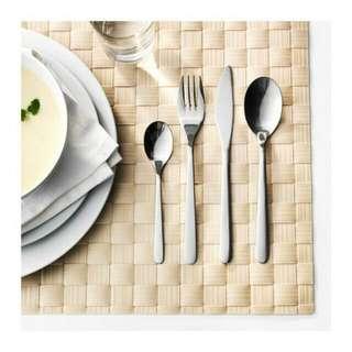 Peralatan Makan Set Isi 24 Pcs Ikea Fornuft Sendok Garpu Pisau