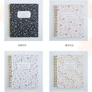 Minimalist Korea Floral notebook