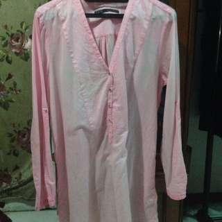 Zara basic pink top