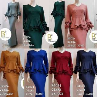 RESTOCK AND READY STOCK KG024/18 QIARA PEPLUM KURUNG PO