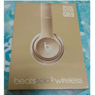 Brand New Beats Solo2 Wireless Special Edition Gold