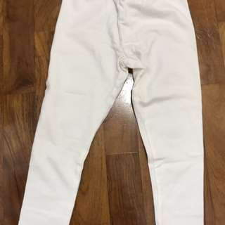 Shining white pants for baby