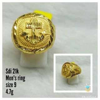 Mens ring saudi gold 21k