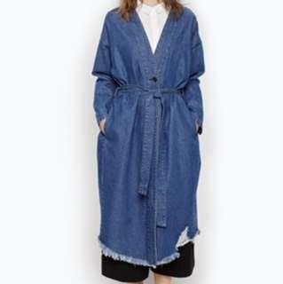 Monki denim coat 牛仔外套 kimono