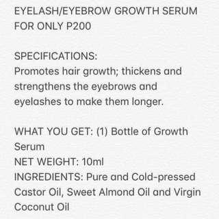 Eyebrow/Eyelash Growth Serum