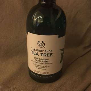 Authentic Body Shop Tea Tree Facial Wash
