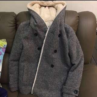 Zara outerwear trafaluc 灰色羊毛大衣 大褸 中長外套