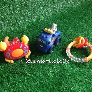 Baby Rattle and Teether Pack E