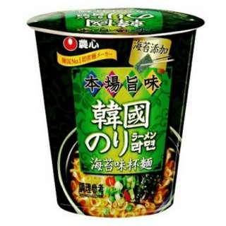 🚚 農心海苔味杯麵