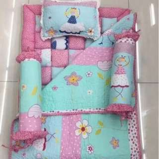 Baby Quilt Toto Cot Bedding 5 in 1 Set