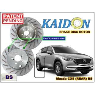 "Mazda CX5 brake disc rotor KAIDON (REAR) type ""BS"" / ""RS""Mspec"