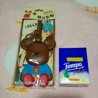 熊仔超人 旅行牌 Teddy Bear Superman Luggage Tag
