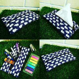 Handmade pouches, travel pouch, tissue pouch