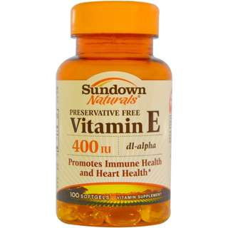 Vitamin E, 400 International Units, 100 Softgels Supplement Promotes Immune Health and Heart Health