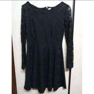 🚚 黑色蕾絲洋裝 #超取再七折