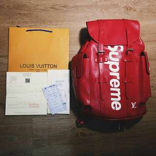 Louis Vuitton X SUPREME Backpack