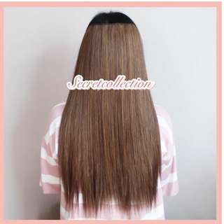 NEW hairclip smoothing 55cm lightbrown