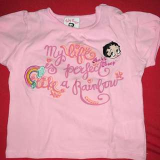"""Betty Boop """"My life is a perfect rainbow"""" t-shirt"""
