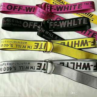 OFF WHITE BELT