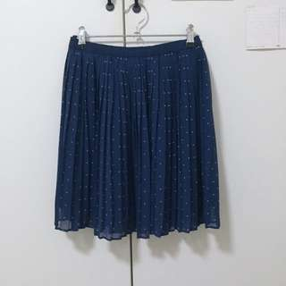 Uniqlo Navy Dotted Skirt