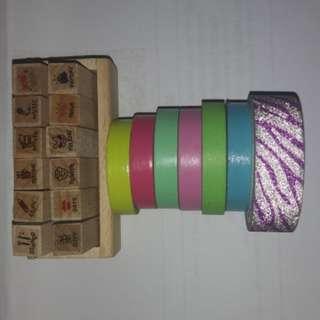 Bundle: Stamp and Washi Tape