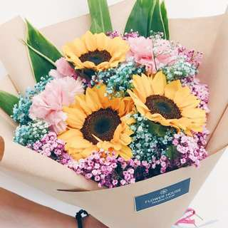 Vday 3s sunflower bouquet