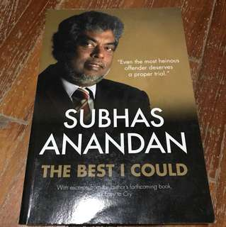 Subhas anandan the best I could
