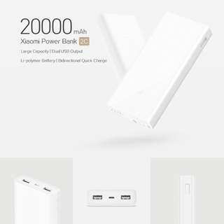 🚚 Xiaomi 20000mAh 2C (2018 Latest Model)