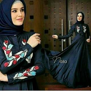 New Naila Dress  BAHAN BALOTELY MIX BORDIR FIT L