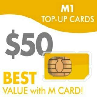 M1 and Singtel Prepaid Card - Golden Number