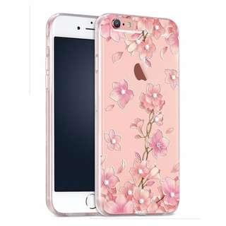 Apple iphone 5/5s、6s plus、5S、SE 3D立體浮雕 閃耀水鉆 全包邊軟手機套    特價$95