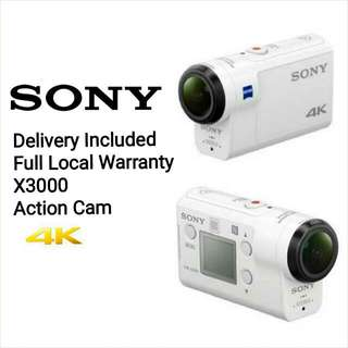 Delivery Included! Brand New! Full Warranty! Freebies Included Sony X3000 Action Camera