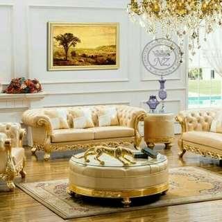 Kursi Sofa Chrsterfield Eropa Klasik