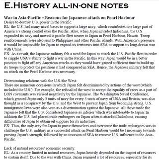 O level History All-in-one Notes