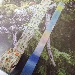 菊水 KIKUSUI story tape 紙膠帶 天地一隅系列-午後藍天/盆栽數學公式