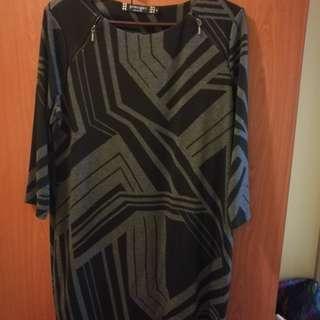 Debenhams Black and Gray Dress