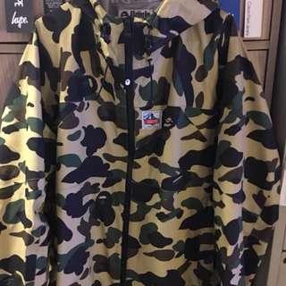 Bape 1st camo gore tex outdoor jacket