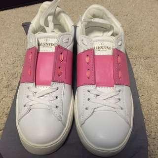 Valentino 白色真皮波鞋