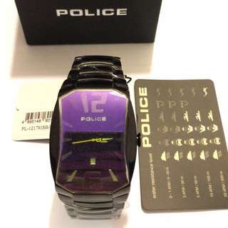 Police Special Edition Watch 黑鋼錶