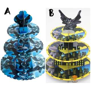💥Superheroes Justice league Batman party supplies - dessert cupcake cake stand / party deco