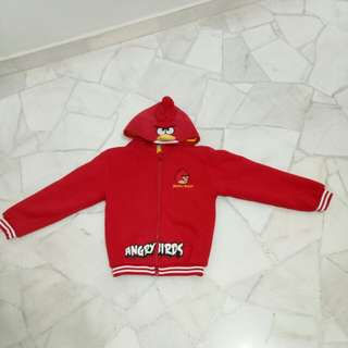 Angry bird jacket with a cute angry bird hoodie