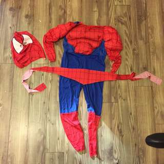 Kids SPIDER MAN  costume. Only wore once. Suitable for age 5-8 years