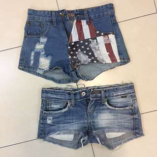 📮INCLUDED POSTAGE •  Denim Shorts